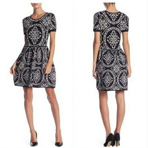 Romeo & Juliet Couture Damask Black White Dress